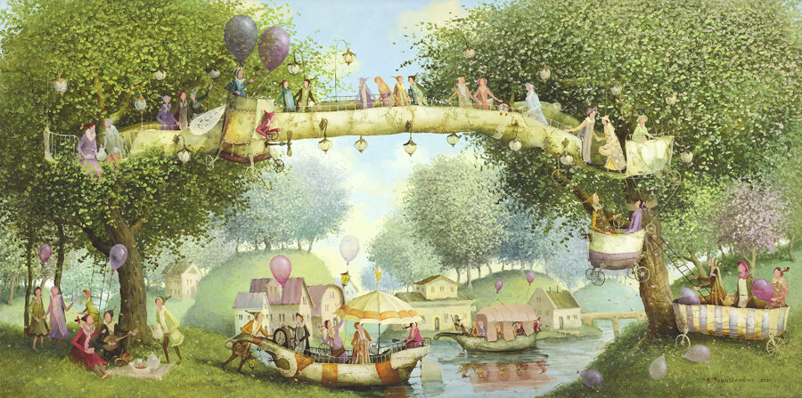 Tiltas su žibintais